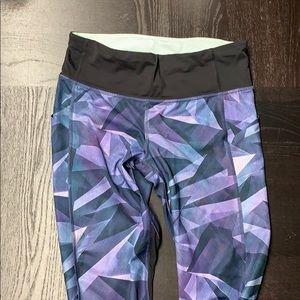 Cropped patterned lululemon leggings